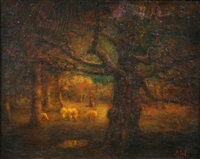 barbizon landscape by henry hammond ahl