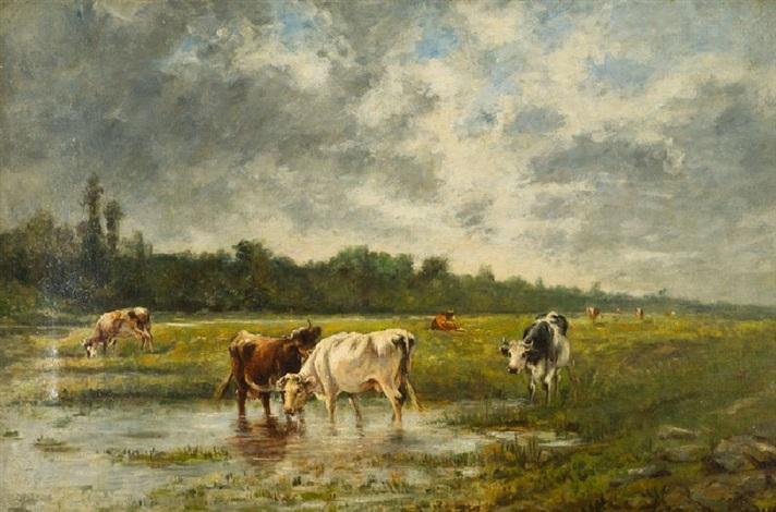 la vallee de la touques by eugène boudin