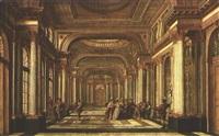 blick in die säulenbestückte halle eines palais-geäides by german school-frankfurt (18)
