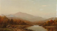mountain landscape with river by charles wilson knapp