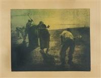 contadini al lavoro by magnavacca ubaldo