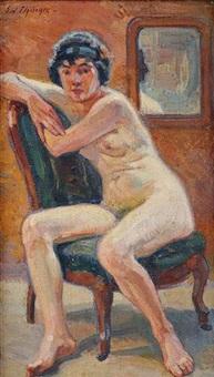 nu au fauteuil by edouard elzingre