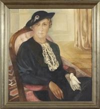 portrait of a woman by lydia dmitrievsky