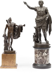 apollo belvedere and augustus prima porta (2 works) by continental school (19)