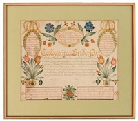 fraktur: birth record for catharina enderlein, dauphin county, pa by charles e. munch