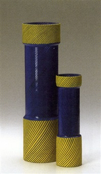 torri vase (+ another, smlr; 2 works) by anna gili