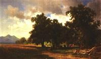 landschaft mit kuhherde am chiemsee by wilhelm boshart