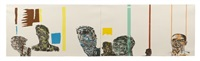 facings: black men, black women (pair) by leon golub
