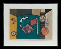 flag, clock and motifs by alan davie