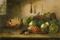still life with vegetable and animals by david emile joseph de noter