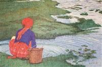 洗衣女 by kang mu
