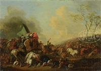 battle scene from the ottoman-hapsburg wars by philips wouwerman