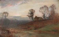 misty morning view by james herbert snell