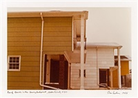 fotoarbeiten: row of houses in new housing development, staten island, n.y.c. by dan graham
