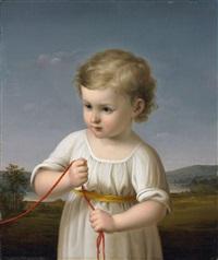 bildnis eines kindes mit roter kordel by heinrich beck