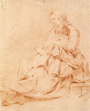sitzende mutter mit kind by jean baptiste siméon chardin