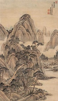 泰岳苍松 (pines of the tai mountains) by tang dai