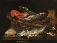fish still life by abraham van beyeren