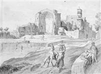 italienische ruinen mit figurengruppen by heinrich gärtner