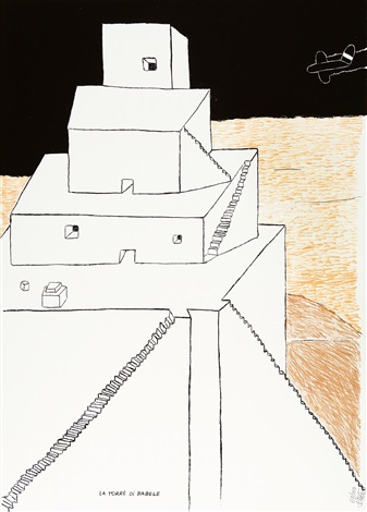 la torre di babele by ettore sottsass