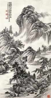 夏山图 立轴 纸本 by xiao junxian