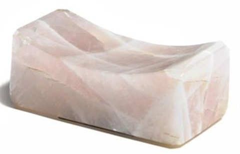 untitled (rose quart pillow) by marina abramović