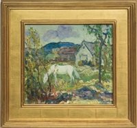 white horse by charles reiffel