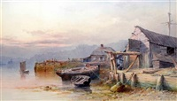 coastal scene by samuel bough