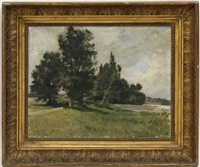 paysage de campagne by alfred louis martin