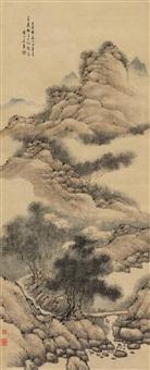 松荫古渡 (landscape) by fa ruozhen