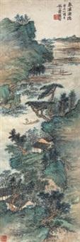 春溪渔隐 立轴 纸本 by xiao xun