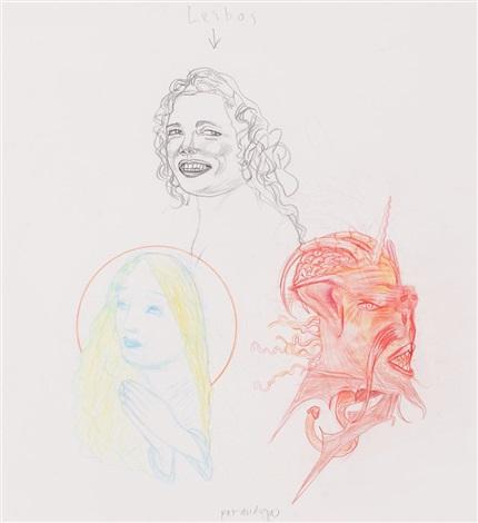lesbos ilustración para las flores del mal by pat andrea