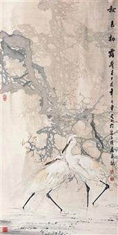 pair of egrets by shi yu
