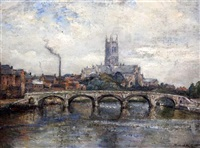 worcester cathedral and bridge by james herbert snell