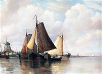dutch coastal scene by frederick james aldridge