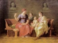 cornelia ihren kindern die geschichte der ahnen erzählend by eberhard wächter