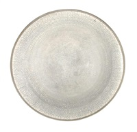 a large raku bowl by david roberts