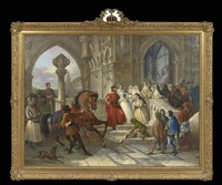 the betrothal of a lombard princess by cesare mussini