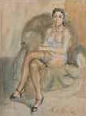 modèle au grand fauteuil club by charles de ziegler