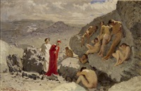 dante in der wüste by alcide davide campestrini