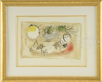 le repos by marc chagall