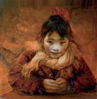 young girl by liu derun