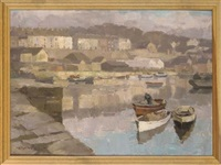 a peaceful day in the harbour, caernarvon by millicent ayrton