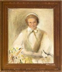 portrait of a creole woman in a bonnet by inez somenzini lugano