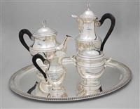 kaffee-/teeservice (set of 5) by louis charles simon leterne
