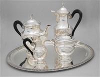 kaffee-/teeservice (set of 5) by louis charles simon leterne