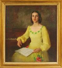 portrait of rita laplante raffman by marguerite stuber pearson
