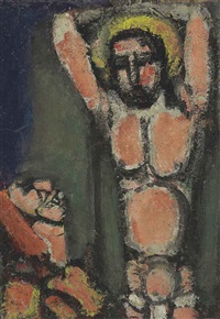 christ aux outrages by georges rouault
