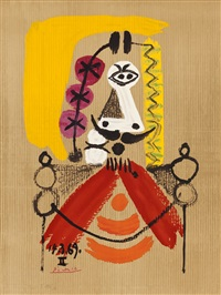 from 'imaginary portraits' (sold with 135b; set of 2) by pablo picasso