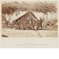 ojibwe tribal leaders (2 works) by mathew b. brady